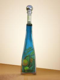 Likör Sonderflasche mit Blumen