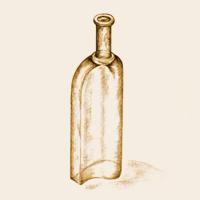 Entwurfszeichnung Glasflasche