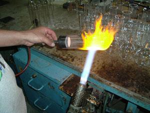Handgefertigte Flaschenherstellung