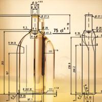 Konstruktionszeichnung Flaschenherstellung